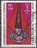 Nouvelles Hebrides 1972 Michel 335 O Cote (2005) 0.30 Euro Coiffure Cérémonielle De Malekula Sud Cachet Rond - Légende Française