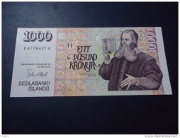 2001 ICELAND 1000 KRONUR ( P 59 ) - UNC - - Islande