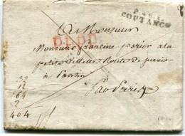 MANCHE De COUTANCES LAC De 1810 Linéaire P48P COUTANCES Avec Bel En Tête - 1801-1848: Precursors XIX