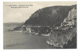 CPA -   CAP D´ AIL  ROCHERS DE LA MALA  MONTAGNE SAINT LAURENT   - Alpes Maritimes 06 - Ecrite 1914 - Cliché Bador - Cap-d'Ail