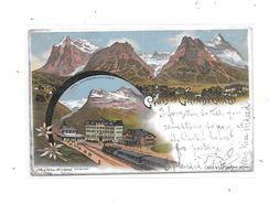 8925 - GRUSS AUS GRINDELWALD : Litho, Carte Précurseur, - BE Berne