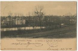 Courcelles Motte Le Chateau Et Le Moulin De Rianwelz Timbrée De Gouvret 1904 - Courcelles