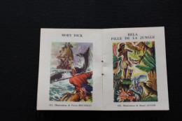 CALENDRIER PETIT FORMAT 1954/55  SUR PETIT CATALOGUE PUBLICITAIRE +IMAGES CHROMOS BIBLIOTHEQUE ROUGE ET OR - Petit Format : 1941-60