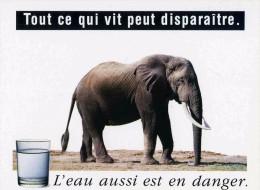 """PUBLICITE   L 31  """"  L'EAU EN DANGER  /  ED HUMOUR A LA CARTE N° PU 610    """"   CPM / CPSM  10X15 TBE - Advertising"""