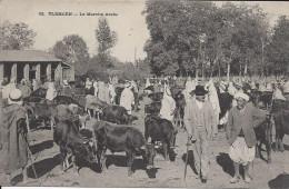 CPA, Algérie, Tlemcen, Le Marché Arabe - Plaatsen
