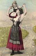 Postcard / CP / Postkaart / Fille / Girl / Femme / Woman / No 1009 / 1907 - Grupo De Niños Y Familias