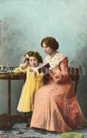 Postcard / CP / Postkaart / Fille / Girl / Femme / Woman / Ed. C P F / Serie Mutter Und Kind / No 2 / Unused - Grupo De Niños Y Familias