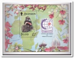Ascension 1995, Postfris MNH, Flowers, Butterflies - Ascension