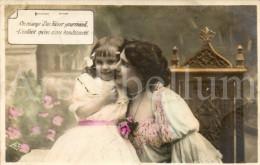 Postcard / CP / Postkaart / Fille / Girl / Femme / Woman / Ed. M. A. / 1906 - Grupo De Niños Y Familias