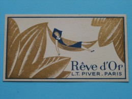 Rêve D'Or L.T. PIVER Paris / Coiff. R. Rorive - Bastin Jambes ( Formaat 5 X 9 Cm. / Zie Foto´s Voor Details ) ! - Perfume Cards
