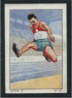 Sports Athlétisme Robert PAUL Série 2 N°12 Pub: Nestlé 1935 57 X 40 Mm Bien Voir 2 Scans - Nestlé