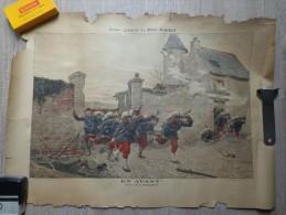 AFFICHE DU PETIT JOURNAL TABLEAU DE P.GROLLERON  EN AVANT - Affiches