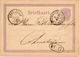 Bk G12 Leeuwarden -Amsterdam 2 AUG 77 - Postal Stationery