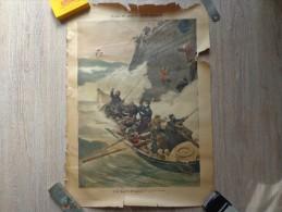 AFFICHE DU PETIT JOURNAL TABLEAU DE A.DAWANT: LE SAUVETAGE - Affiches