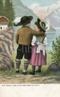 Postcard / CP / Postkaart / Boy / Garçon / Fille / Girl / S. No. 329 / 1903 - Grupo De Niños Y Familias
