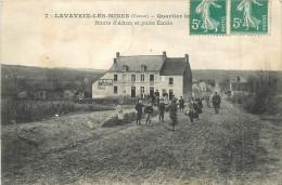 23 LAVAVEIX Les MINES  Route D'ahun Et Puits émile  2 Scans - Non Classés