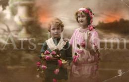 Postcard / CP / Postkaart / Boy / Garçon / Fille / Girl / Ed. P.C. / Paris / No 45 / 1919 - Grupo De Niños Y Familias
