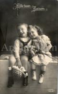 Postcard / CP / Postkaart / Boy / Garçon / Fille / Girl / Ed. V. P. F. / 1912 - Grupo De Niños Y Familias