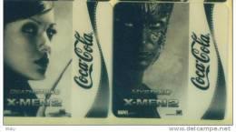 2007 COCA COLA ----2 SOUS  VERRES EN PVC DEATHTRICK X MEN2 MARVEL - Sous-verres