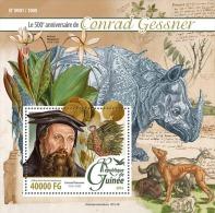 GUINEA 2016 - Conrad Gessner, Rhinoceros S/S. Official Issue - Neushoorn