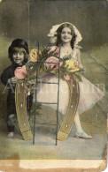 Postcard / CP / Postkaart / Boy / Garçon / Fille / Girl / Made In Germany / No 1612, VI - Grupo De Niños Y Familias