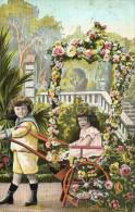 Postcard / CP / Postkaart / Boy / Garçon / Fille / Girl / Made In Germany / No 518 / 1909 - Grupo De Niños Y Familias