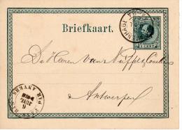 Bk G8 Van 's-Gravenhage Naar Antwerpen  Met PAYS BAS PAR ANVERS 5 JUL 75 - Material Postal