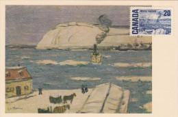 Carte Maximum CANADA N° Yvert 386 (Le TRAVERSIER - QUEBEC)  Tableau De James Wilson Morrice - Maximumkaarten