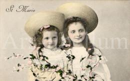 Postcard / CP / Postkaart / Filles / Girls / Serie 610. 1-6 / Unused - Grupo De Niños Y Familias