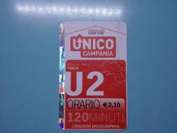 BUS TICKET EXTRAURBANO UNICO CAMPANIA ITALIA FASCIA U2 120 MINUTI USATO - Bus