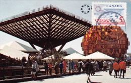 Carte Maximum CANADA N° Yvert 390 (EXPO 67) Obl Sp Montréal - Maximumkaarten