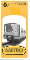 Feuillet N° 16bis De 1976 - Poste Belge - Belgium - Metro - Documents De La Poste