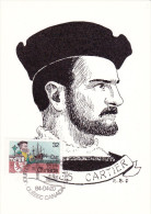 Carte Maximum CANADA N° Yvert 869 (Jacques CARTIER) Obl Sp Ill 1er Jour (Ed Palette Bretonne) - Maximumkaarten