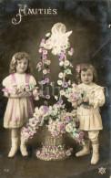 Postcard / CP / Postkaart / Girls / Filles / Ed. P. C. / No 418 / 1908 - Grupo De Niños Y Familias