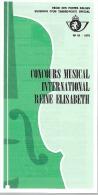 Feuillet N° 10 De 1976 - Poste Belge - Belgium - Concours Musical International Reine Elisabeth - Documents De La Poste