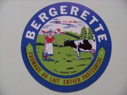 Etiquette Fromage - La Bergerette - R.C Verviers - Belgique  A Voir ! - Fromage