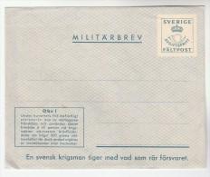 1969 SWEDEN MILITARBREV Postal STATIONERY COVER Stamps - Postal Stationery