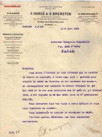 VP3624 -Tabac - Lot De Lettre De Mrs F.HARLE & G.BRUNETON Concernant Les Brevets D´Invention De Mr SCHLOESING à PARIS - Documents