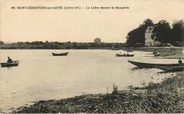 Dép 44 - Chateaux - Château - St Sébastien Sur Loire - Saint Sébastien Sur Loire - La Loire Devant La Baugerie - état - Saint-Sébastien-sur-Loire