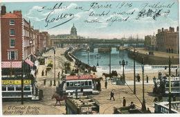 Dublin  O' Connell Bridge River Liffey Tram Advert Lipton Tea - Dublin