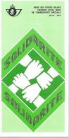 Feuillet N° 19 De 1977 - Poste Belge - Belgium - Solidarité - Documents De La Poste
