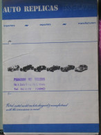 CATALOGO AUTO REPLICAS - 197? - Catalogues
