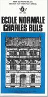 Feuillet N° 3 De 1975 - Poste Belge - Belgium - école Normale Charles Buls - Documents De La Poste