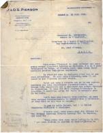 VP3625 - Lot De Lettres De Mrs J.& O.G. PIERSON  Concernant La Vente & Fabrication Du Tabac Pour Mr SCHLOESING à PARIS - Documenti