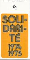 Feuillet N° 19 De 1974 - Poste Belge - Belgium - Solidarité - Documentos Del Correo