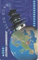 TARJETA DE SAN MARINO DE CONEXION CON JAPON (PLANET) NUEVA-MINT - San Marino