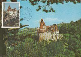 CASTLE, BRAN, DRACULA CASTLE, CM, MAXICARD, CARTES MAXIMUM, 1978, ROMANIA - Castles