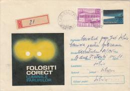 ACCIDENTS PREVENTION, ROAD SAFETY, REGISTERED COVER STATIONERY, ENTIER POSTAL, 1969, ROMANIA - Accidents & Sécurité Routière