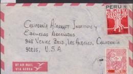 O) 1977 PERU, TELECOMMUNICATION CIRCUITS, PRODUCTION - FLOWER SNUFF, COVER TO CALIFORNIA AIRCRAFT INSTITUTE - USA, XF - Peru