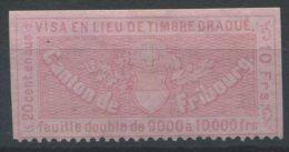 1069 - FRIBOURG Fiskalmarken - Steuermarken